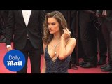 Alessandra Ambrosio oozes old Hollywood glamour on Cannes red carpet - Daily Mail