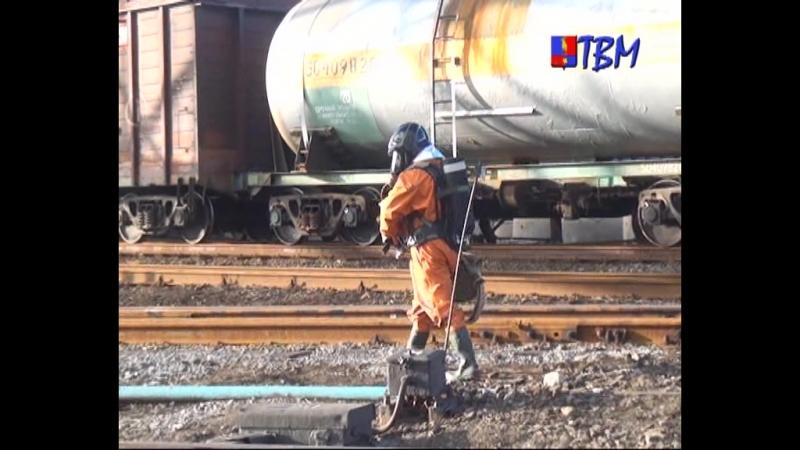 Условная авария ликвидирована. На промплощадке Мончегорск Кольской горно-металлургической компании прошли учения «Хлор».