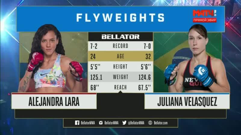 Алехандра Лара — Джулиана Веласкес \ Alejandra Lara vs. Juliana Velasquez