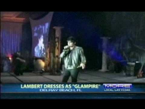 Adam Lambert Goes Glampire for Boys and Girls Club Charity at Party City's Halloween Bash.