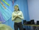 Маша читает свои стихи на концерте посвященном Дню защиты детей