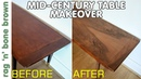 Repair and Veneer - Mid Century Coffee Table Makeover