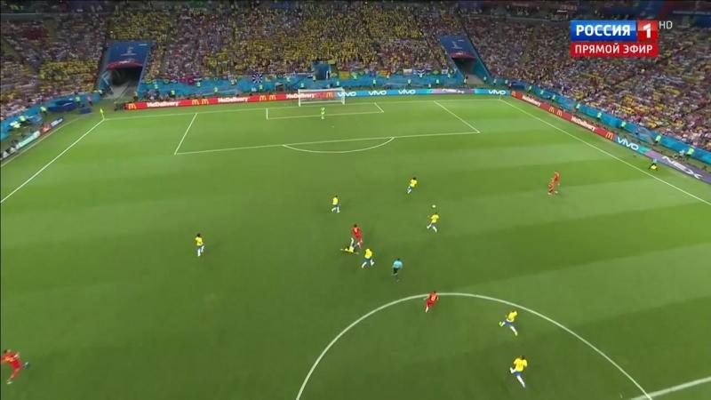 Бразилия - Бельгия . гол . ЧМ-2018 . Де Брёйне