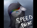 Speedpaint - Art Trade - MLP - Grey Rainbow
