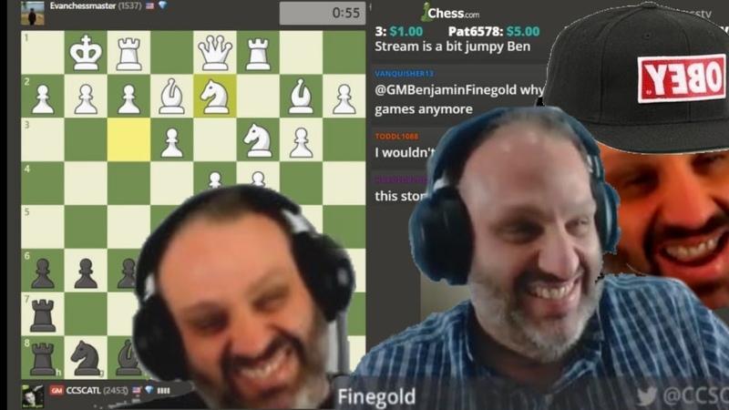 GM Ben Finegold Losing His Mind