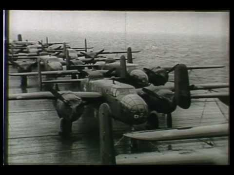 Doolittle Raiders B-25 Launch Footage (1942)