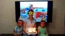 2-е место - Анастасия Лазарева за очень уютный домашний видеоролик-поздравление с детьми и тортом
