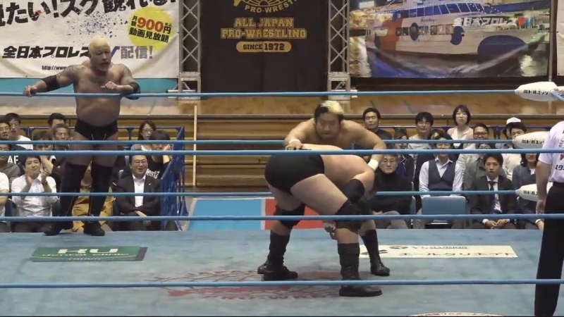 Zeus, Joe Doering, The Bodyguard vs. Suwama, Shuji Ishikawa, Hikaru Sato (AJPW - Dynamite Series 2018 - Day 3)