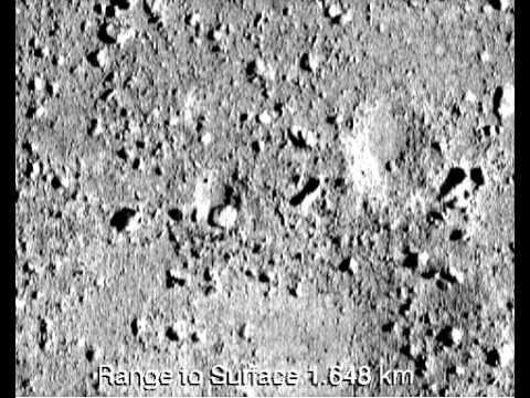 Кадры посадки NEAR Shoemaker на астероид Эрос