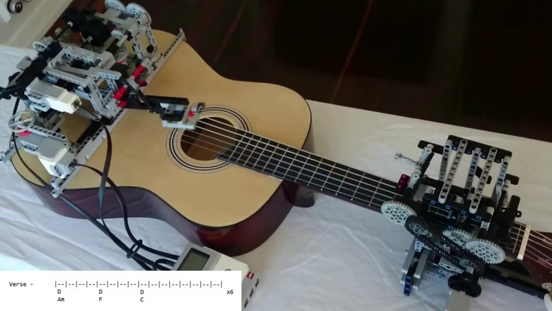 Of Monsters And Men - Little Talks - Guitar Cover by Lego Mindstorm EV3