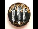 92 Acrylic Fluid Painting Mini Birch Tree Swipe Technique