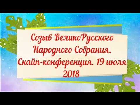 ВВС Созыв ВеликоРусского Народного Собрания Конференция 19 07 18