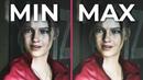 Resident Evil 2 Remake – PC 4K Min vs. Max Graphics Comparison Frame Rate Test 1080p
