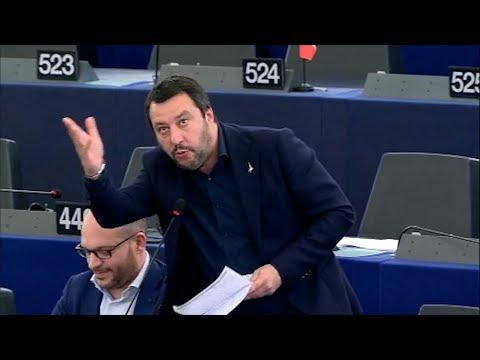 Salvini zur EU Führung Ihr seid nicht normal euch sollte ein sehr guter Arzt therapieren 2017
