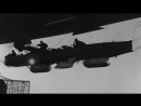 Demonstration of direct bombings over enemy targets with the help of a dirigible Stock Footage