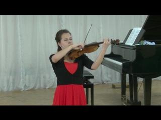 Татьяна Ерофеева (скрипка) и Анна Ерофеева (фортепиано).Кондопога 4 июня 2018