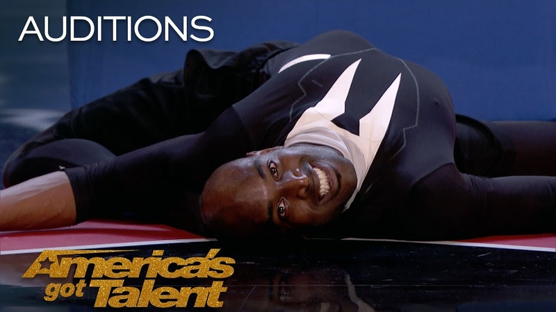 Troy James Terrifies Judges With Chilling Contortion - America's Got Talent 2018