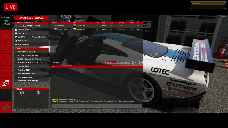VK LIVE Spa @ Saleen S7R GT1 - RSS GT Mod Pack - LIVE ONBOARD