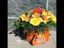 Композиция из цветов в шляпной коробке. Цветочный магазин Farfella на габровской 32 ТЦРублевский 375295455032