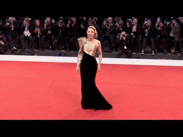 Cate Blanchett on the red carpet for the Premiere of Suspiria in Venice