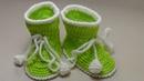 ПИНЕТКИ для новорожденного крючком. Самый легкий способ вязания пинеток крючком. ЧАСТЬ 1.