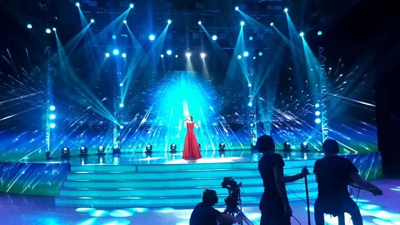 съемка Казакстан телеарнасында Ұмытылмас әндер
