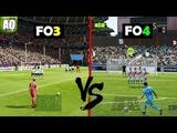 FIFA ONLINE 3 vs FIFA ONLINE 4 Gameplay Comparison ( Free kickPenaltyLeague modeTraning )..O !!