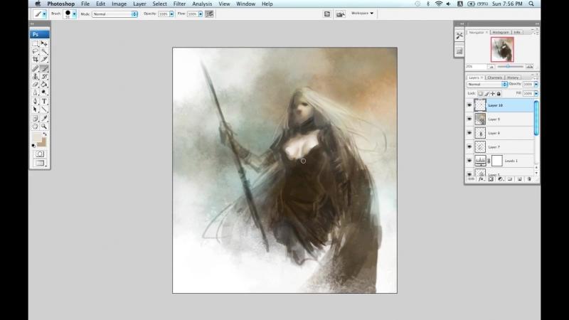 The Art of Daarken (Video Tutorials) - Female Hunter Part 1 HD 1440x900
