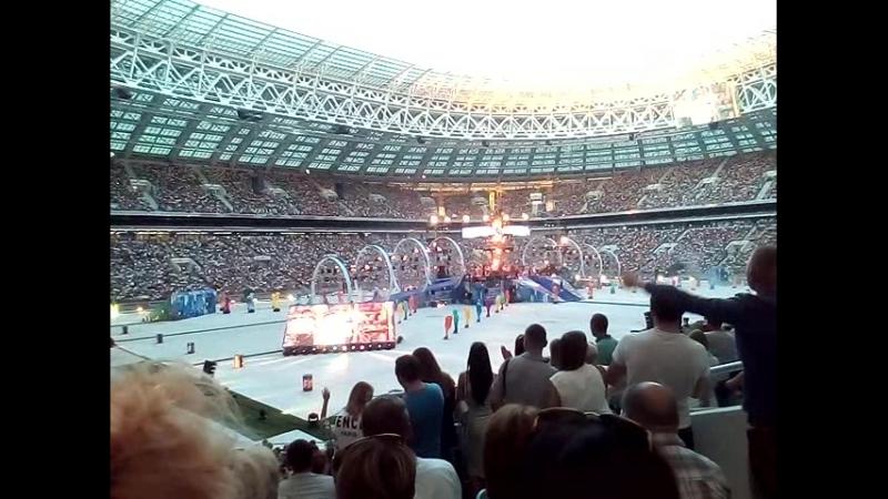 Лужники концерт ко дню строителя 10 08 2018