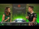 Интервью с Соло после победы над Mineski. Плей-офф TI8