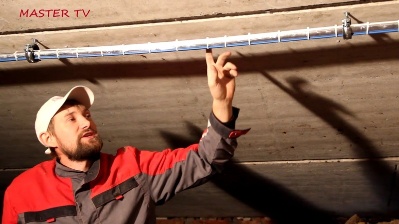 Установка кабеля саморегулирующегося для обогрева труб REXANT. Защита от перемерзания труб