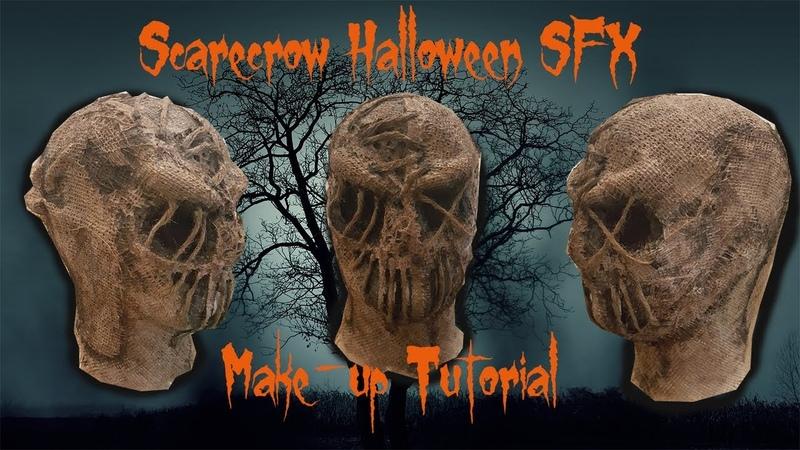 SCARECROW SFX Make-up *** Halloween mask *** make-up Tutorial