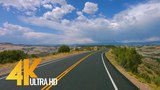 4K Scenic Byway 12 All American Road in Utah, USA - 5 Hour of Road Drive with Relaxing Music