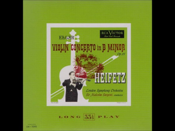 Heifetz plays Elgar Violin Concerto op 61
