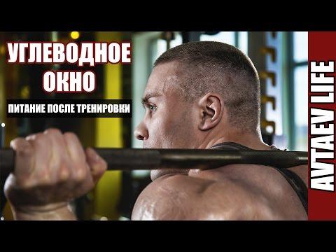 Минутка теории Углеводное окно Что есть после тренировки Avtaev LIFE