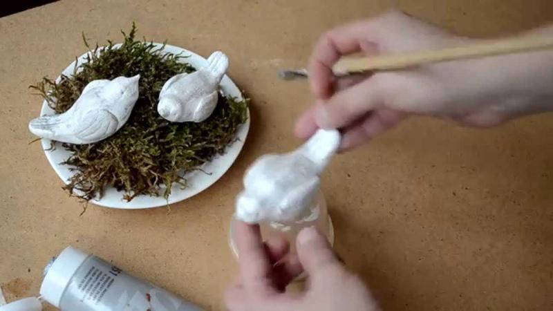 Тесто Лепка из теста птичик подарок своими руками Clay modeling dough gift hand made