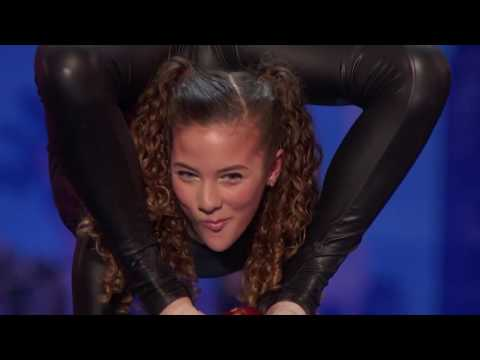Sofie Dossi Teen Balancer and Contortionist Shoots a Bow With Her Feet America's Got Talent 2016