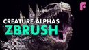 Making Killer Creature Alphas for ZBrush
