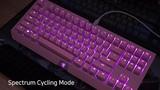 Razer BlackWidow Tournament Edition Chroma V2 Quartz Pink LED Activations
