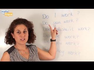 Уроки Английского с носителями (Грамматика: Present Simple) Уровень A1-A2 Elementary