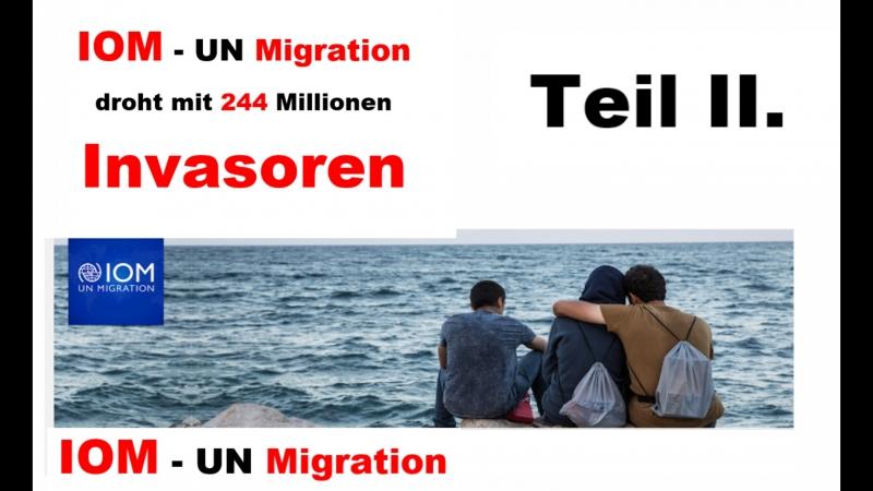 Die IOM droht Europa mit 244 Millionen Migranten