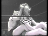 Lindy Lawrence vs Lynn O'Connor 1950's TV Wrestling From Holloywood female ladies women's lady