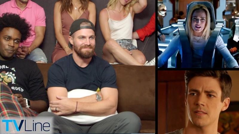 Arrowverse Pop Quiz Arrow, Flash, Legends Casts Face Off! | TVLine