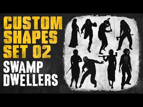 Custom Shapes SET02: Swamp Dwellers