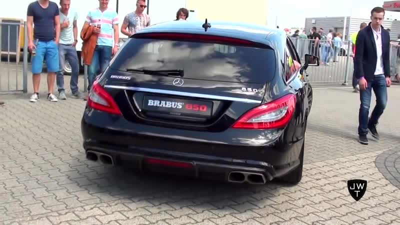 850HP. Mercedes-Benz BRABUS CLS 850 Shooting Brake 6.0 BiTurbo LOUD On Track E