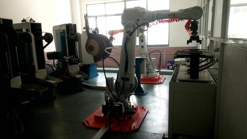ABB Robotic grinding and polishing Chair Armrest