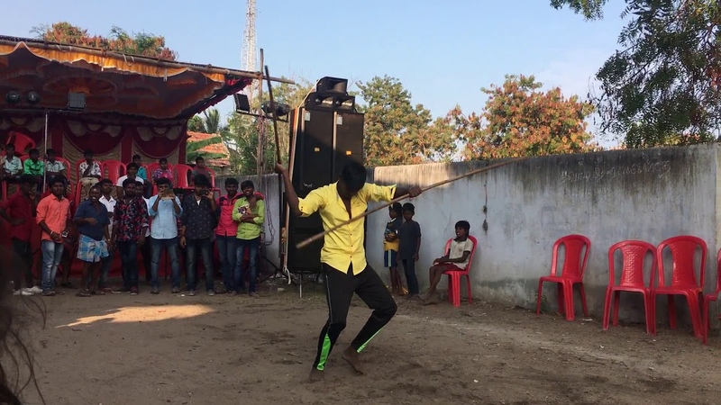 Silambattam double stick spinning by Ashwin