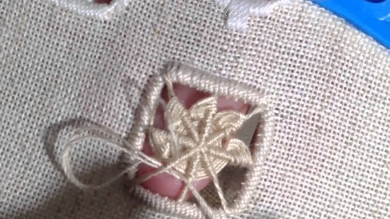 How I make edelweiss stitch hardanger embroidery