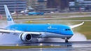 Reverse thrust JUST AMAZING on a wet runway A380 B747 B777 B787 A330