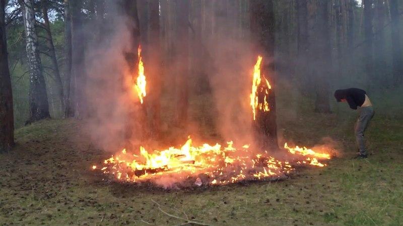 Возгорание в лесу | мост на Краса увала | 15 мая 2018